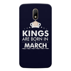 Kings are born in March design    Moto M hard plastic printed back cover