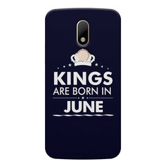 Kings are born in June design    Moto M hard plastic printed back cover