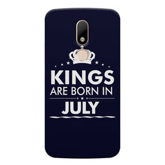 Kings are born in July design    Moto M hard plastic printed back cover