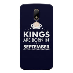Kings are born in September design    Moto M hard plastic printed back cover
