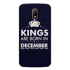 Kings are born in December design    Moto M hard plastic printed back cover