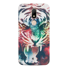 Tiger with a ferocious look Moto M hard plastic printed back cover