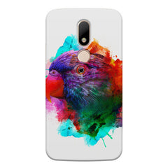 Colourful parrot design Moto M hard plastic printed back cover