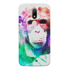 Colourful Monkey portrait Moto M hard plastic printed back cover