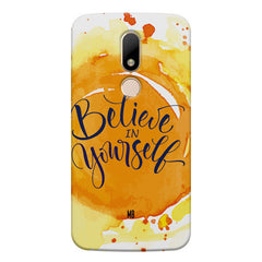 Believe in Yourself Moto M hard plastic printed back cover