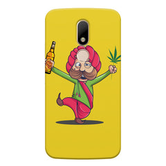Sardar dancing with Beer and Marijuana  Moto M hard plastic printed back cover