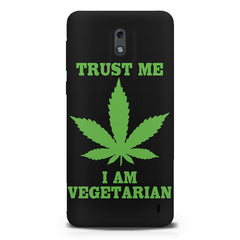 Vegan weeed design  Nokia 1 hard plastic printed back cover.