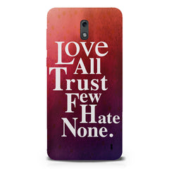 Inspirational quotes design  Nokia 1 hard plastic printed back cover.