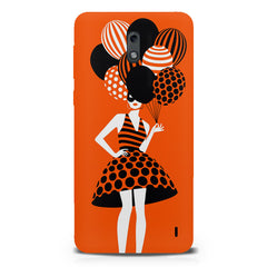 Girl and the balloons design,  Nokia 1 hard plastic printed back cover.