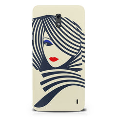 Fashionable girly design  Nokia 1 hard plastic printed back cover.