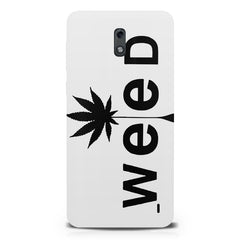 Weed tree design  Nokia 1 hard plastic printed back cover.