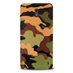Camoflauge design  Nokia 1 hard plastic printed back cover.