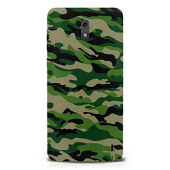 Military design design  Nokia 1 hard plastic printed back cover.