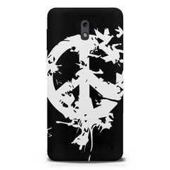 Let there be peace design  Nokia 1 hard plastic printed back cover.