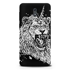 Furious unicorn design  Nokia 1 hard plastic printed back cover.