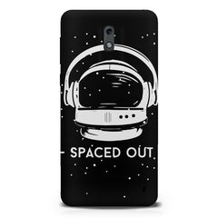 Spaced out by music design  Nokia 1 hard plastic printed back cover.