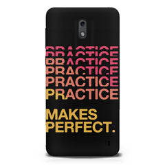 Practise makes perfect design  Nokia 1 hard plastic printed back cover.