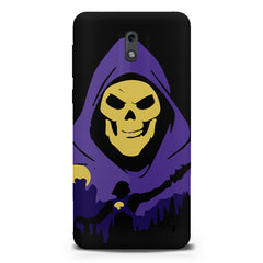 Evil looking skull design  Nokia 1 hard plastic printed back cover.