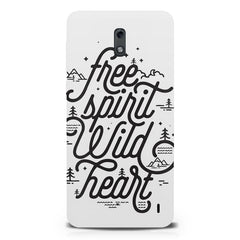 I am a free spirit design  Nokia 1 hard plastic printed back cover.