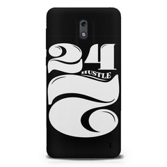 Always hustle design  Nokia 1 hard plastic printed back cover.