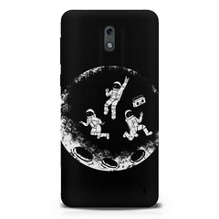 Enjoying space astraunauts design  Nokia 1 hard plastic printed back cover.