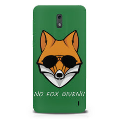 No fox given design  Nokia 1 hard plastic printed back cover.