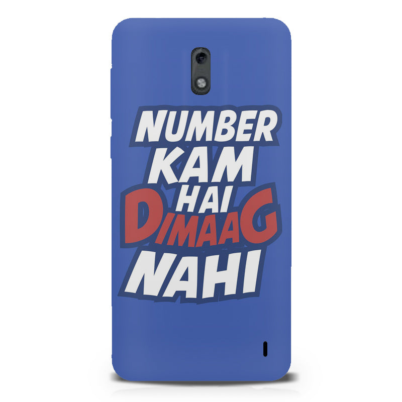 purchase cheap 4175b bc355 Number kam hai dimaag nahi quote design Nokia 1 all side printed hard back  cover by Motivate box Nokia 1 hard plastic printed back cover.