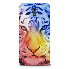 Colourful Tiger Design Nokia 1 hard plastic printed back cover.