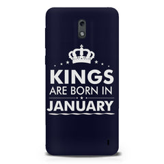 Kings are born in January design Nokia 1 all side printed hard back cover by Motivate box Nokia 1 hard plastic printed back cover.