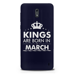 Kings are born in March design Nokia 1 all side printed hard back cover by Motivate box Nokia 1 hard plastic printed back cover.