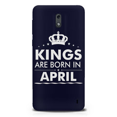 Kings are born in April design Nokia 1 all side printed hard back cover by Motivate box Nokia 1 hard plastic printed back cover.