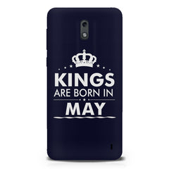 Kings are born in May design Nokia 1 all side printed hard back cover by Motivate box Nokia 1 hard plastic printed back cover.