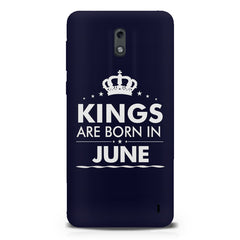 Kings are born in June design Nokia 1 all side printed hard back cover by Motivate box Nokia 1 hard plastic printed back cover.