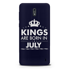 Kings are born in July design Nokia 1 all side printed hard back cover by Motivate box Nokia 1 hard plastic printed back cover.