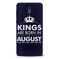 Kings are born in August design Nokia 1 all side printed hard back cover by Motivate box Nokia 1 hard plastic printed back cover.