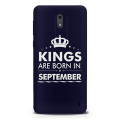 Kings are born in September design Nokia 1 all side printed hard back cover by Motivate box Nokia 1 hard plastic printed back cover.