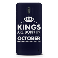Kings are born in October design Nokia 1 all side printed hard back cover by Motivate box Nokia 1 hard plastic printed back cover.