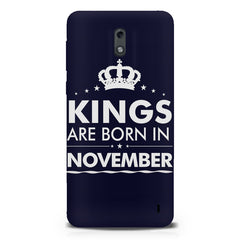 Kings are born in November design Nokia 1 all side printed hard back cover by Motivate box Nokia 1 hard plastic printed back cover.