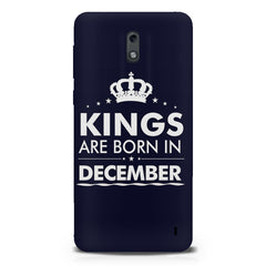 Kings are born in December design Nokia 1 all side printed hard back cover by Motivate box Nokia 1 hard plastic printed back cover.
