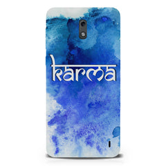 Karma Nokia 1 hard plastic printed back cover.