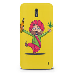 Sardar dancing with Beer and Marijuana  Nokia 1 hard plastic printed back cover.