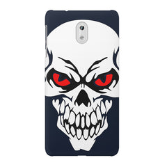 Skull with red eyes design Nokia 3 printed back cover