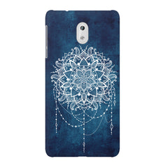 Ethnic design on blue pattern Nokia 3 printed back cover