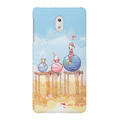 Woollen ball ride sketch design Nokia 3 printed back cover