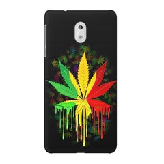 Marihuana colour contrasting pattern design Nokia 3 printed back cover
