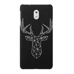 Geometrical reindeer design Nokia 3 printed back cover