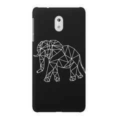 Geometrical elephant design Nokia 3 printed back cover