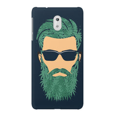 Beard guy with goggle sketch design Nokia 3 printed back cover