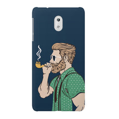 Pipe smoking beard guy design Nokia 3 printed back cover