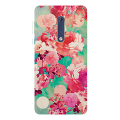 Floral  design,  Nokia 5  printed back cover